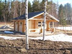 hirsi sauna+sanatupa/puuhella 30 m2