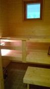 Sauna on lähes käyttämätön