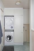 Kodinhoitohuoneessa paikka pesutornille