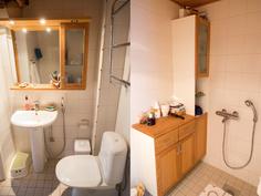 Alakerran uusittu WC.