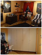 Yksi alakerran makuuhuoneista