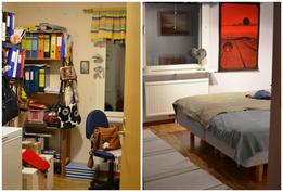 Alakerran kaksi makuuhuonetta