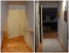 Yläkerran portaikko ja eteinen