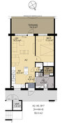 Pohjapiiros 2h+kk 50 m²
