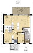Pohjapiirros 4h+k 91 m²