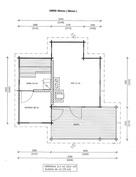 Pohjapiirustus saunarakennus(suuntaa-antava, ei mittakaavassa)