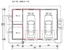Pohjapiirustus autotalli (suuntaa-antava, ei mittakaavassa)