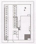 Huoneiston sijainti asunto-osakeyhtiössä (merkitty tummalla)
