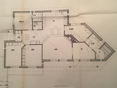 Pohjapiirros, keittiön ja oh:n välinen seinämä muutettu suoraksi