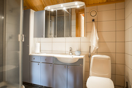 Yläkerran wc + kylpyhuone