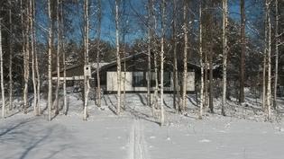 Talvella hiihtoa