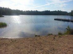 Vähäjärven uimaranta.