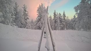 Talven kauneutta etuterassilta