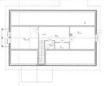 Alkuperäinen suunnitelma yläkerran pohjakuvaksi