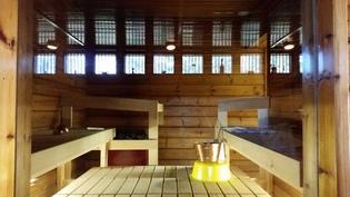 Sauna allasosaston suunnasta
