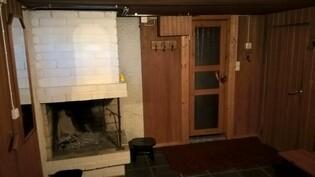 Takkahuone/saunan pukuhuone kellari