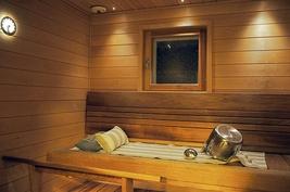 Sauna on uusittu 2013