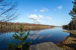 Pielisjokinäkymä, venematka Joensuun keskustaan noin 4 km