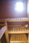 Ihana, ikkunallinen sauna!