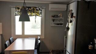 Ilmalämpöpumppu keittiössä