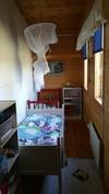 Varastotilaa on käytetty kesäisin lastenhuoneena