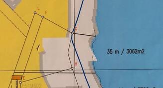 kartta - 35m rantaa - 3062m2 tontti