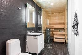 Saunaosasto asiakasvalinnoin