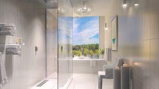 Suihkuhuone ja kylpyhuone
