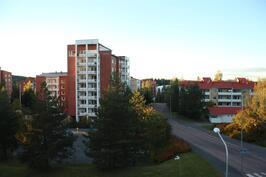 Näkymä parvekkeelta pohjoiseen