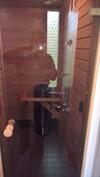 sauna (lasioven läpi kuvattuna)