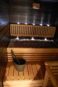 Omassa saunassa on mukava rentoutua.