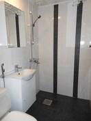 Täysin uusittu kylpyhuone alakerrassa