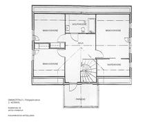 Pohjakuva päärakennus yläkerta