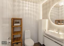 Kaunis vaalea wc-tila