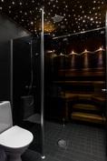 Asiakasmuutoksin toteutettu saunaosasto