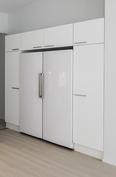 Meillä on vakiona erilliset jääkaappi ja pakastinkaappi.