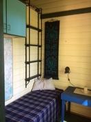 makuuhuone, jossa myös parvelle sopii nukkumaan