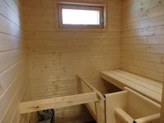 Sähkökäyttöinen sauna.