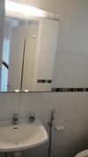 Erillinen WC, peilikaappi, allaskaappi