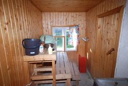 Sauna navettarakennuksessa