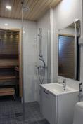 Tyylikäs kylpyhuone  (kuva valmistunut kohde)
