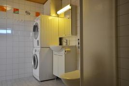 Paikka pesukoneelle ja tornille