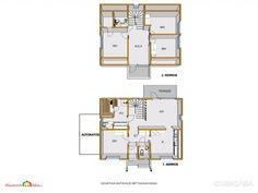 Toimivat tilata jaettu kahteen kerrokseen.