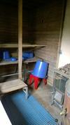 Navetan päädyssä oleva sauna