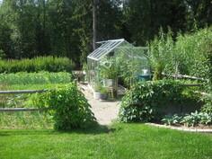 Kasvimaata ja kasvihuone