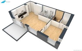 Huoneistojen 3D-pohjakuva