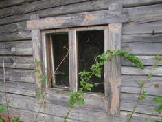 Saunan ikkuna, sauna purkukuntoinen