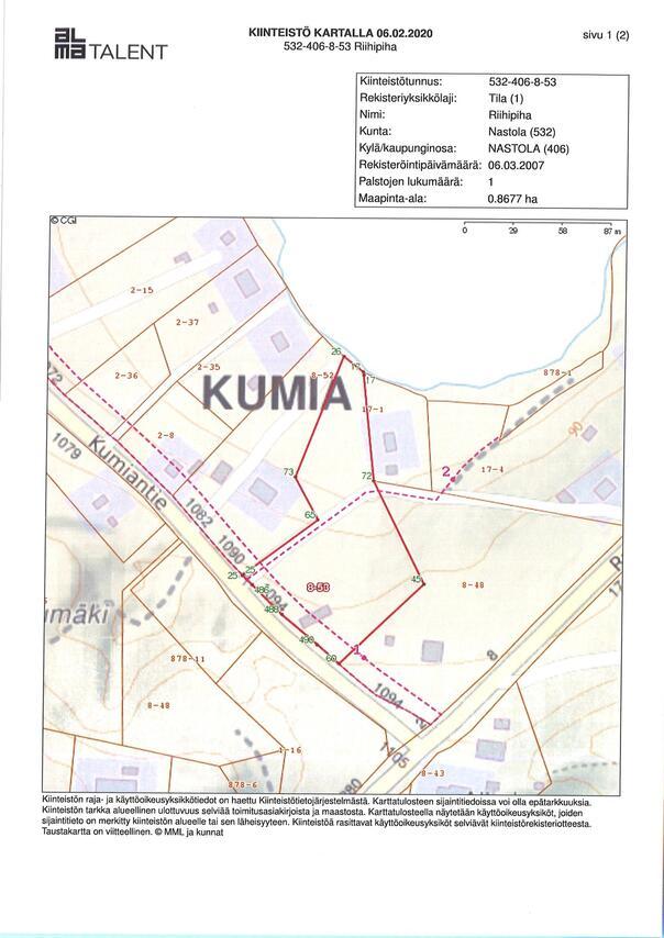 Myydaan Omakotitontti Lahti Nastola Kumiantie 1092 Etuovi