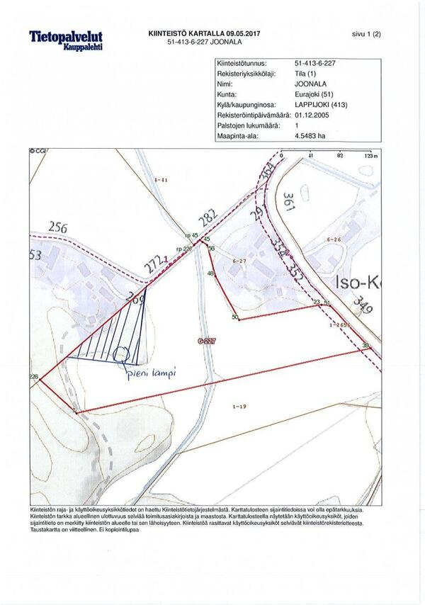 Myydaan Muu Eurajoki Lapijoki Maaraala Joonala Nimisesta