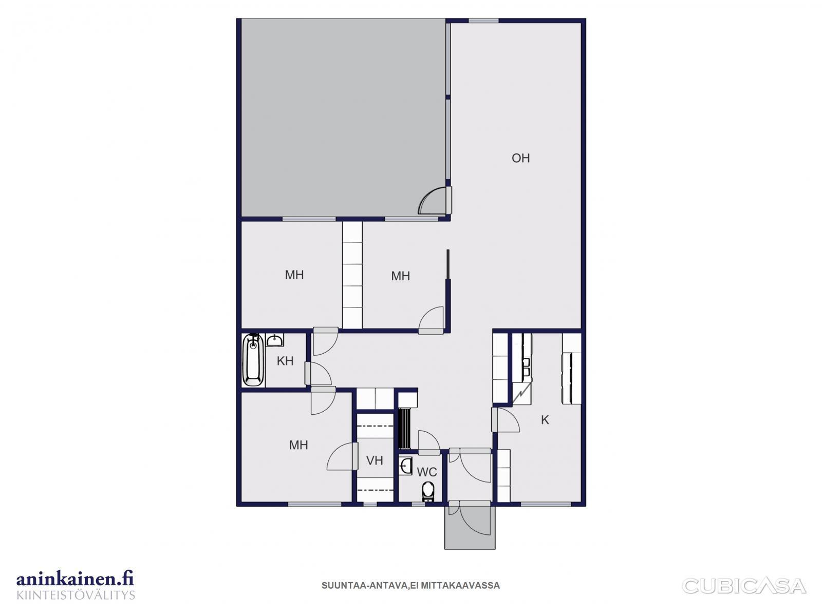 For Sale Row house 4 rooms  Pöytyä Kyrö Porakalliontie 5 as  Etuovi com 775
